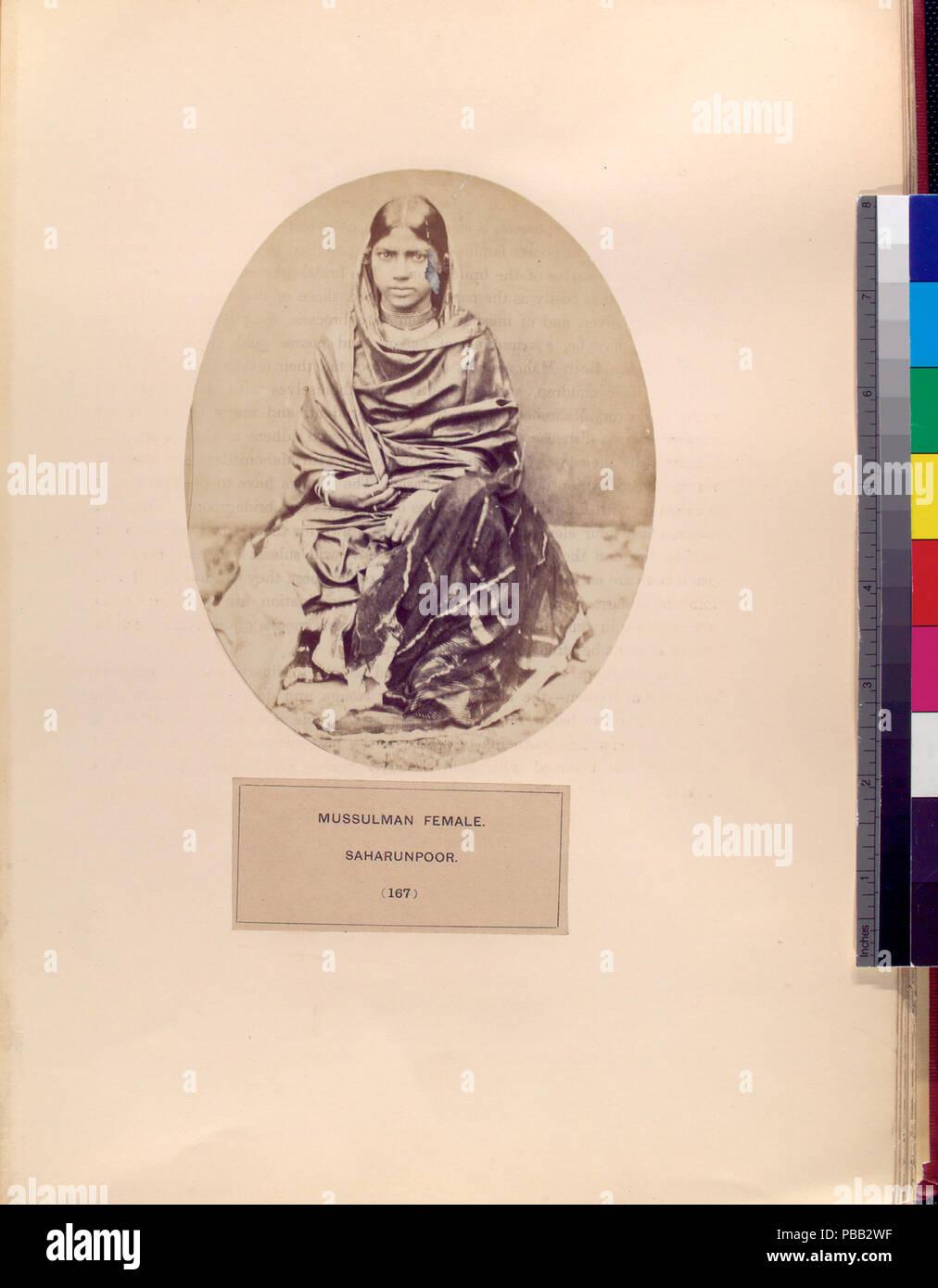 1072 Mussulman femmina, Saharunpoor (NYPL b13409080-1125405) Immagini Stock