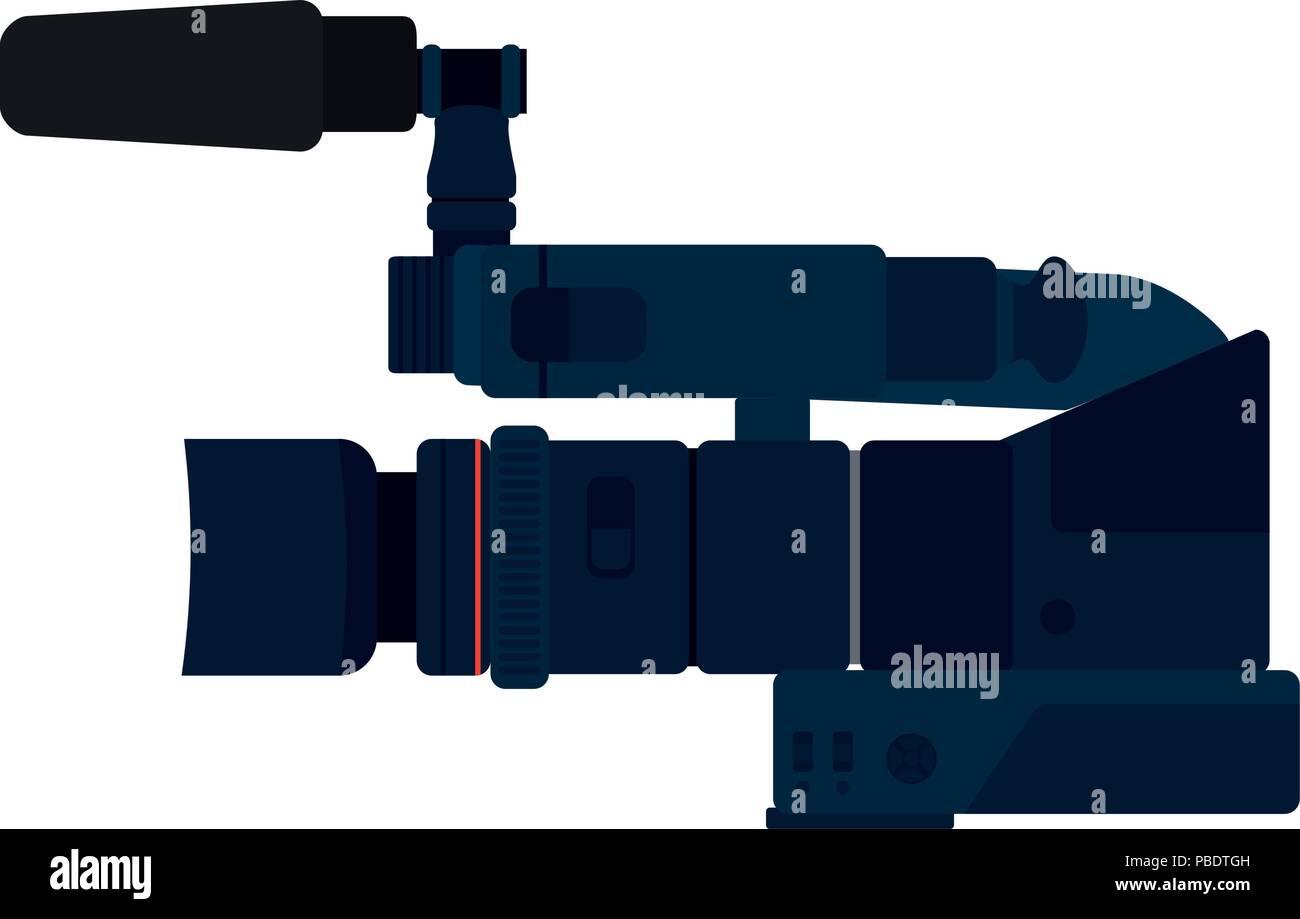 La telecamera video recorder le attrezzature di tecnologia Immagini Stock
