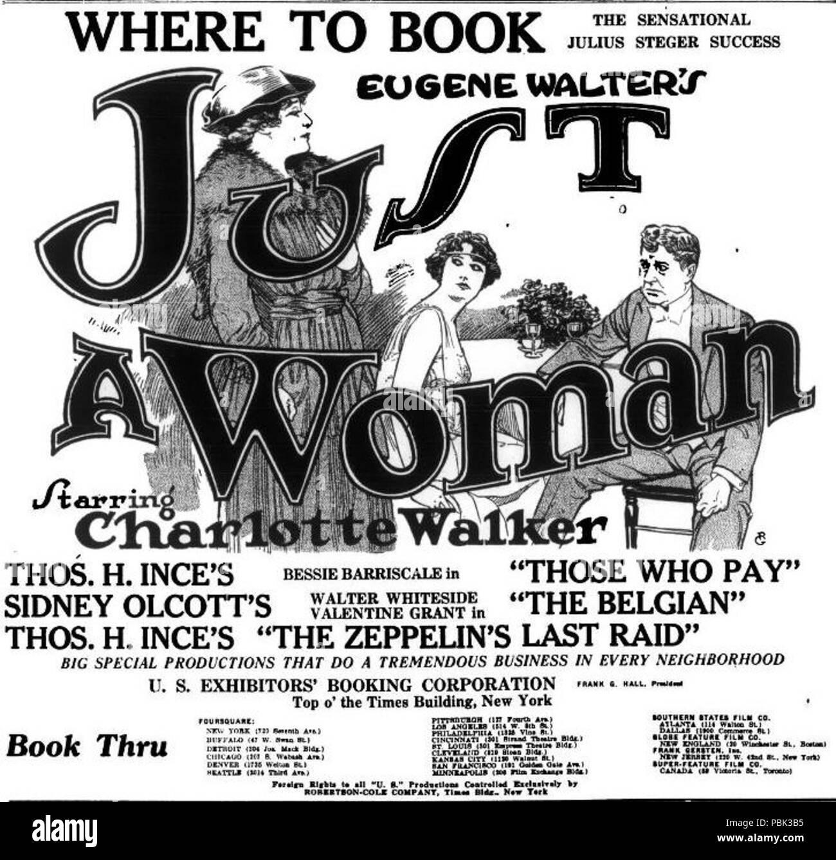 849 appena una donna (1918) - 2 Immagini Stock