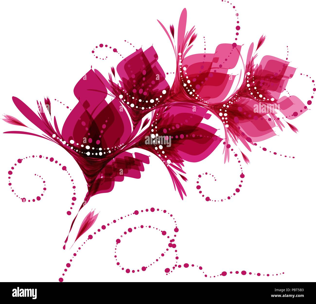 Sfondo Floreale Fiori Stilizzati Pattern Con Fiori Biglietto Di