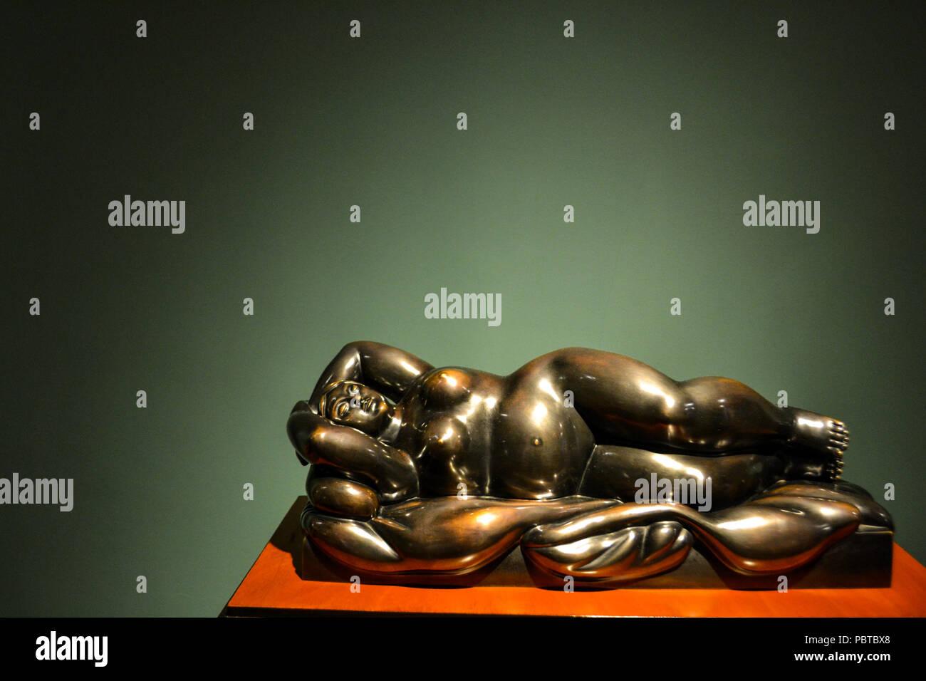 Bogotà, Colombia, ; luglio 24 2017: bella scultura realizzata da Fernando Botero Immagini Stock