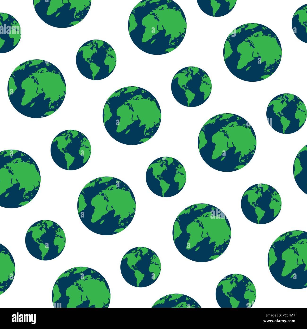 88e81ecb62 A livello globale il pianeta terra sullo sfondo della mappa ...
