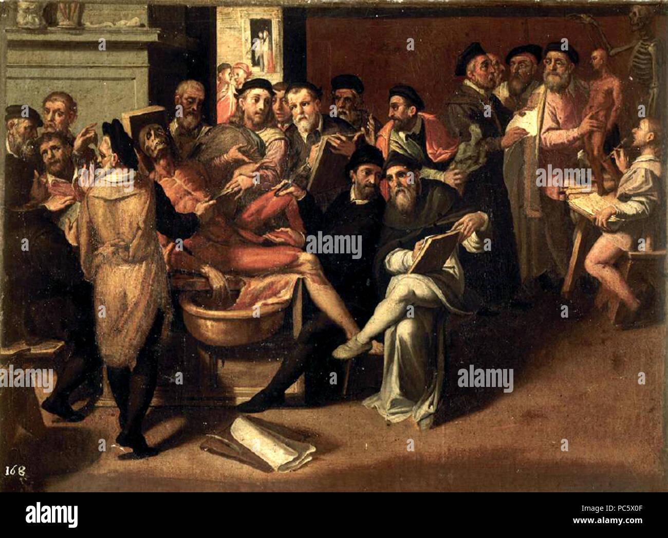 12 Bartolomeo Passarotti - Lezione di anatomia Immagini Stock