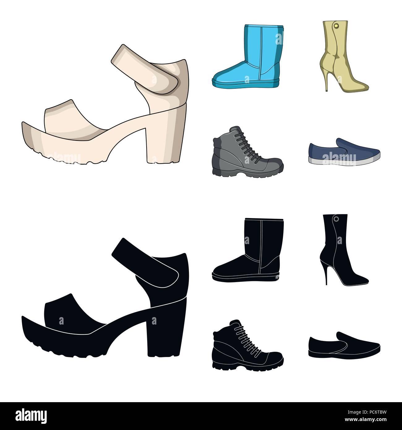 new product d91a7 aae5d Un set di icone su una vasta gamma di scarpe.scarpe diverse ...