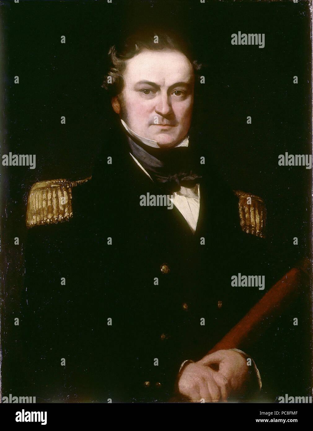 Il capitano William Edward Parry (1790-1855) *olio su tela *91,4 x 71,1 cm *ca 1830 111 Capitano William Edward Parry (1790-1855), da Charles Skottowe Immagini Stock