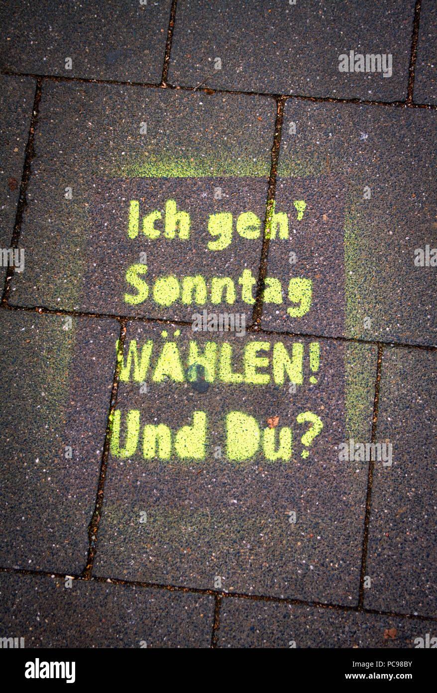 Graffiti,scegliere,prompt,suffragio Immagini Stock