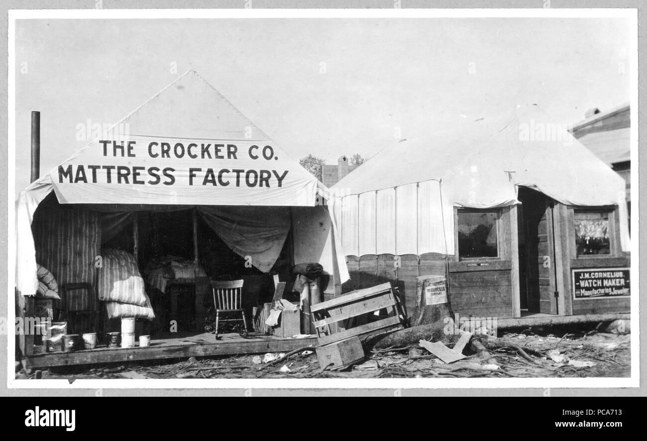 Il Crocker Co. Materasso 1900-1930 fabbrica eventualmente Anchorage Immagini Stock