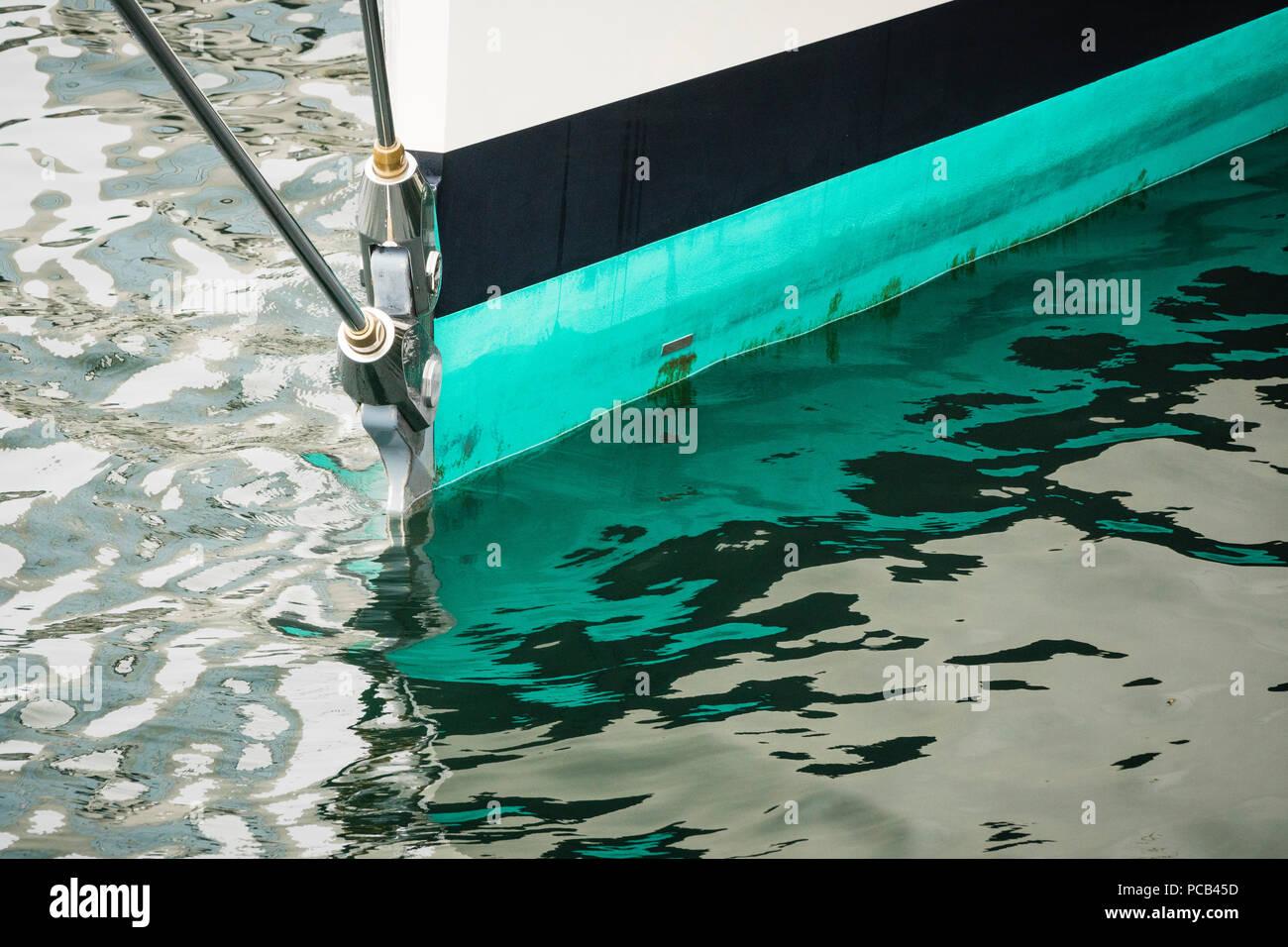 Sailing yacht 'Kamaxitha' al fianco di un molo di Halifax, Nova Scotia, Canada. Immagini Stock