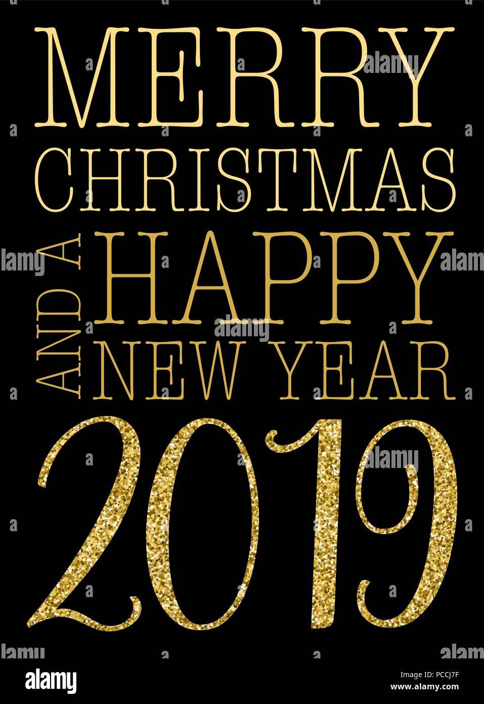 Auguri Di Buon Natale E Anno Nuovo 2019 Biglietto Di Auguri