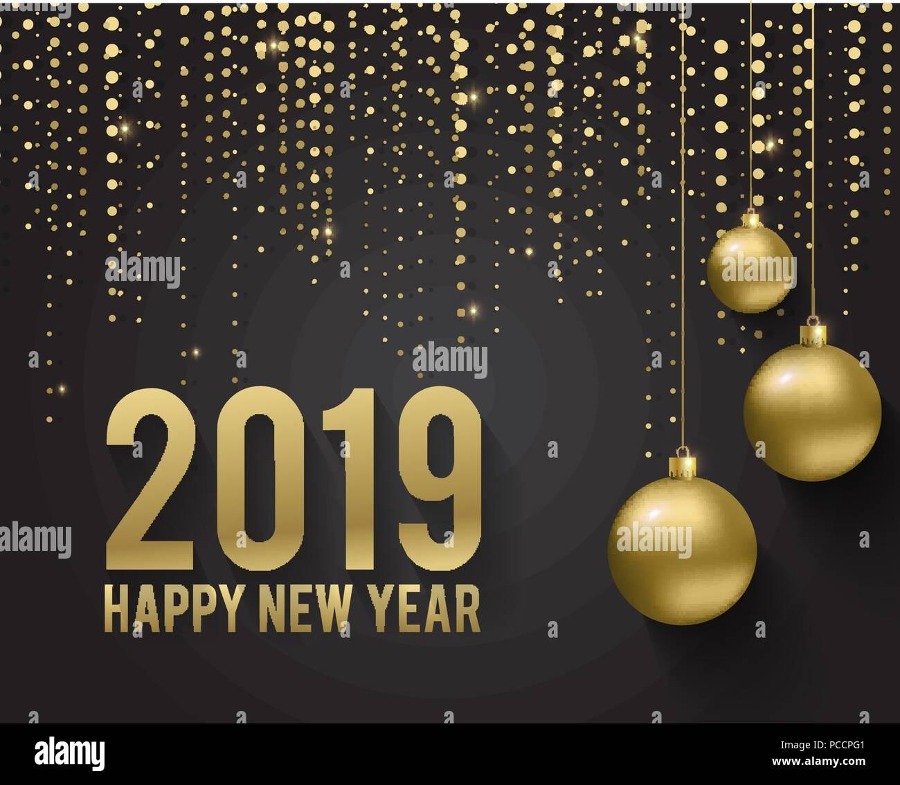 Biglietto Di Auguri Invito Con Felice Anno Nuovo 2019 E