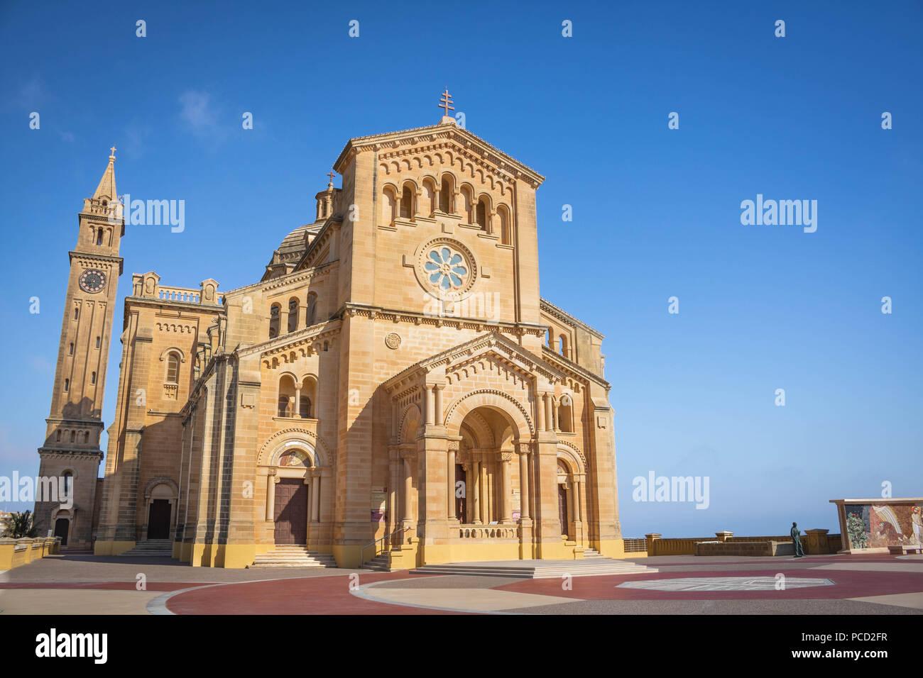Basilica della Beata Vergine di Ta' Pinu, Gozo, Malta Immagini Stock