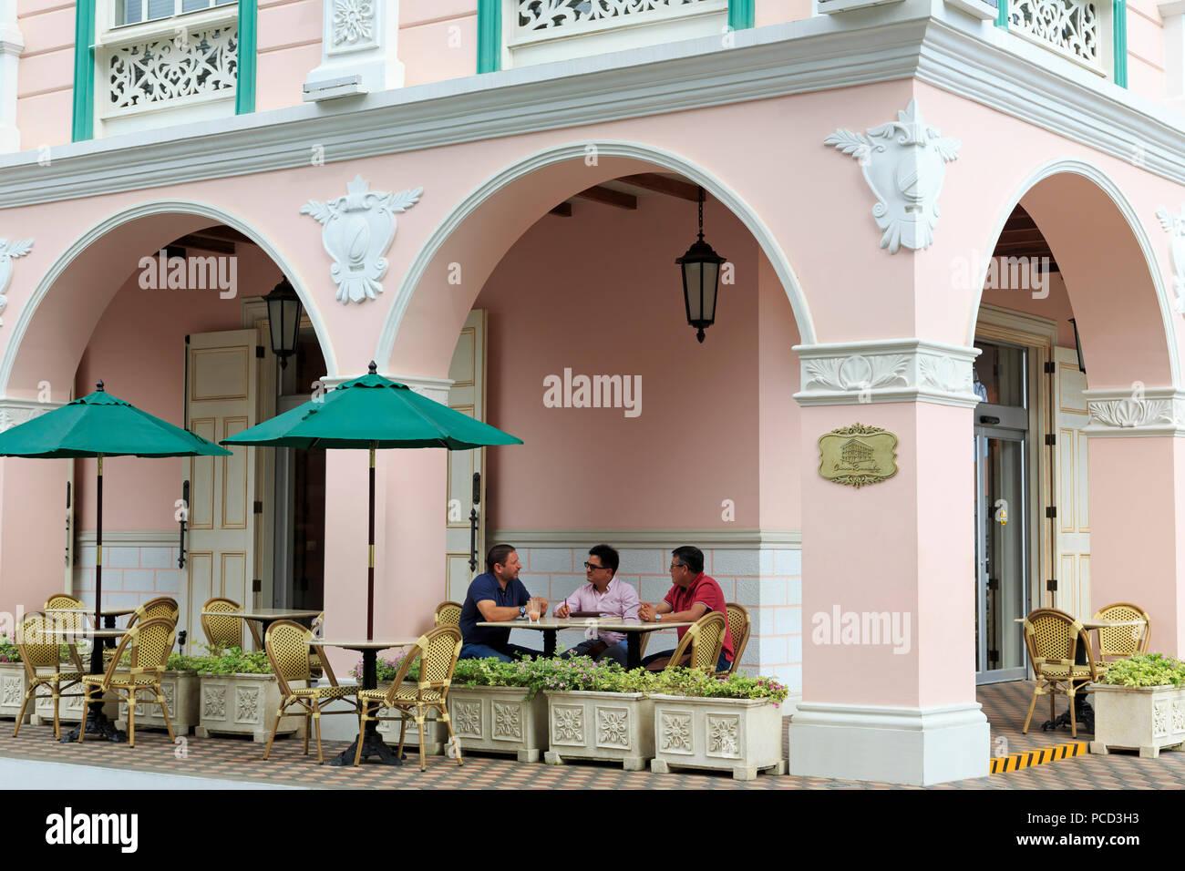 La Casa Rosada, il Manta Città, provincia di Manabi, Ecuador, Sud America Immagini Stock
