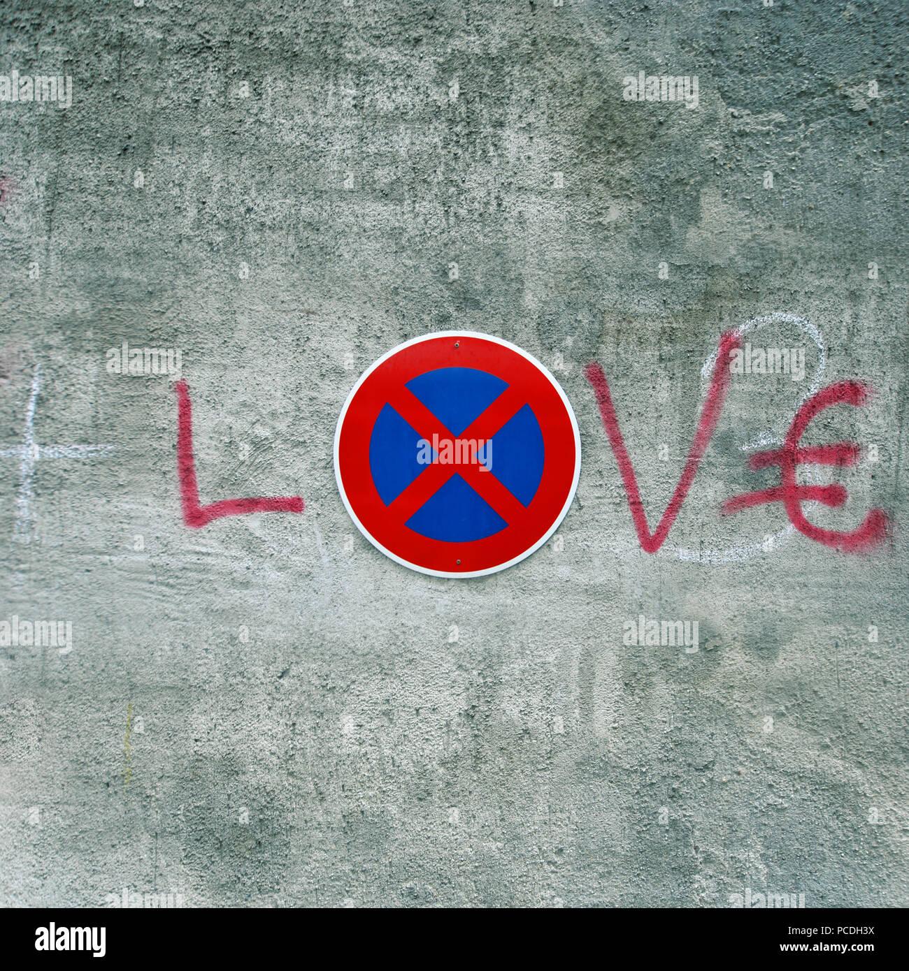 Graffiti,scrittura,l'amore Immagini Stock