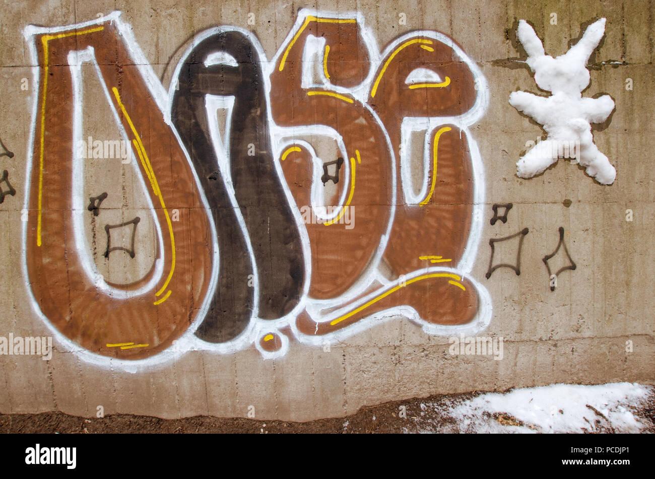 Graffiti,oasi Immagini Stock