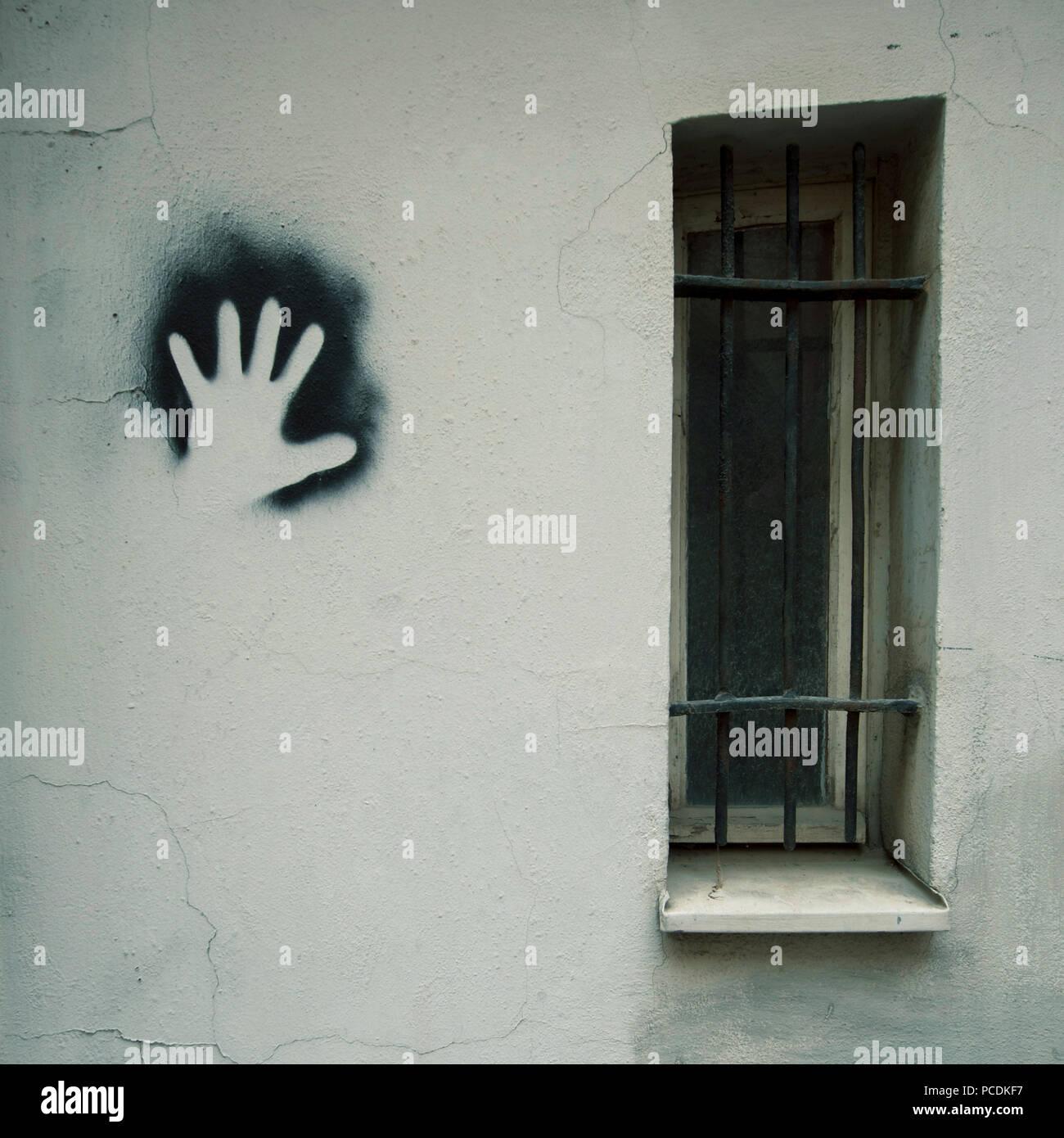 Prigione,catturato,i diritti dell'uomo,liberazione Immagini Stock