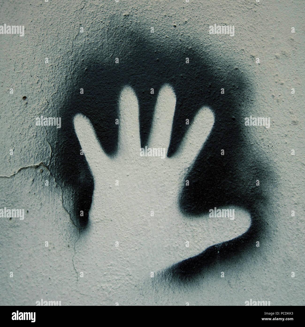 Mano,graffiti Immagini Stock