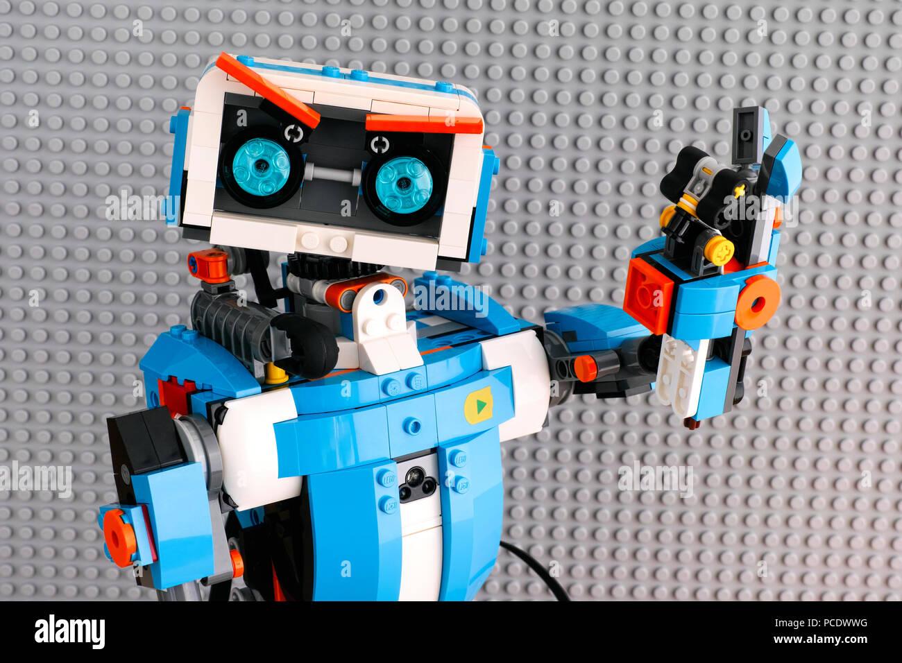 Tambov Federazione Russa Luglio 27 2018 Lego Robot Boost Con
