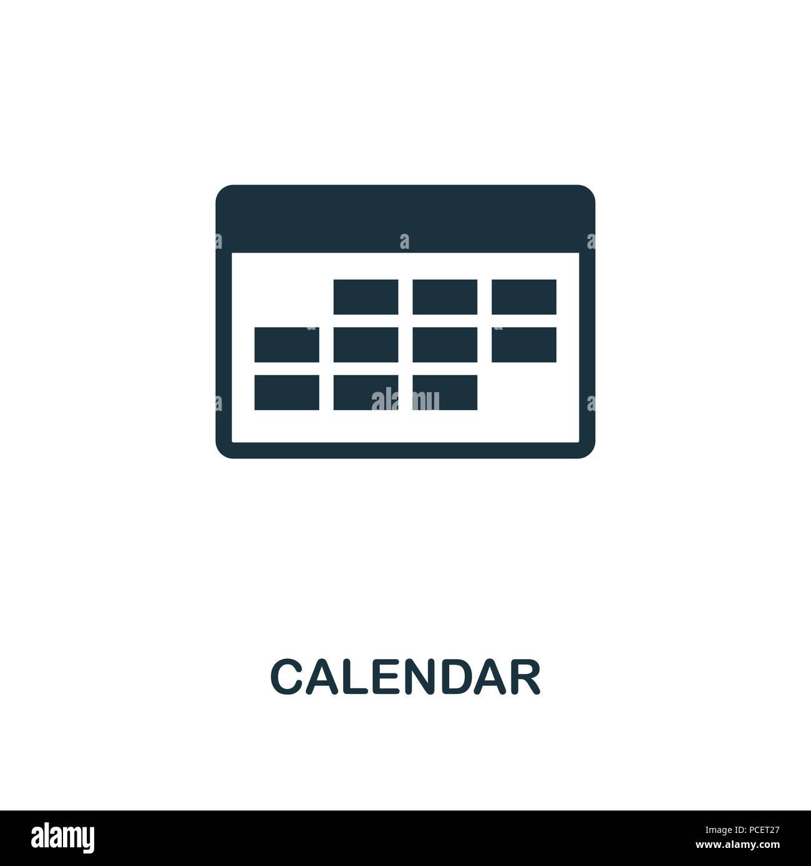 Simbolo De Calendario.Calendario Icona Creativi Elemento Di Semplice