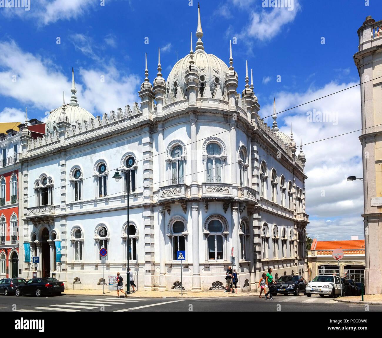 Lisbona. Concept Store Embaixada, che ha usato per essere una residenza privata. Immagini Stock