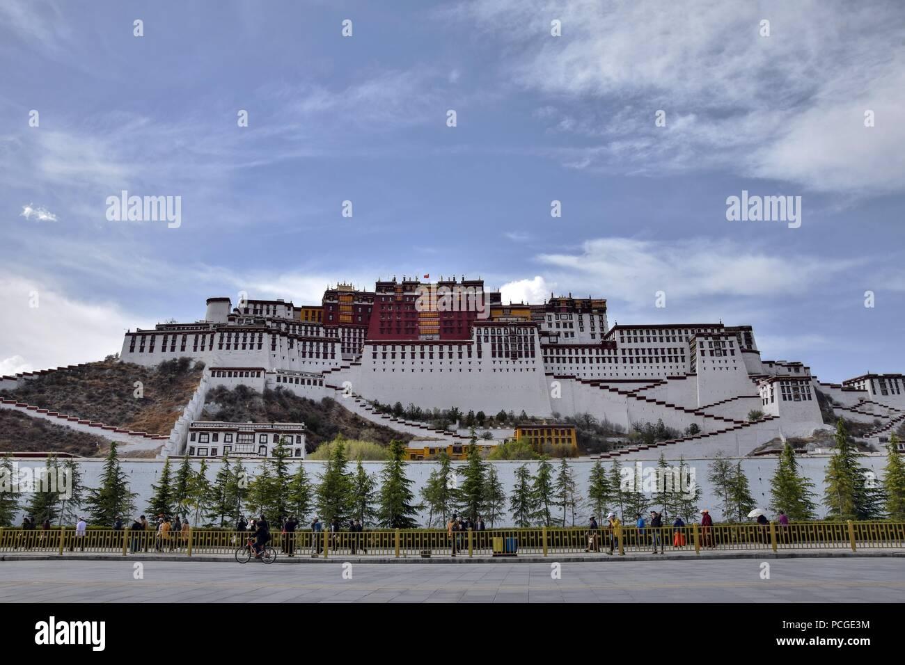 Il palazzo del Potala a Lhasa, regione autonoma del Tibet, Cina. Immagini Stock
