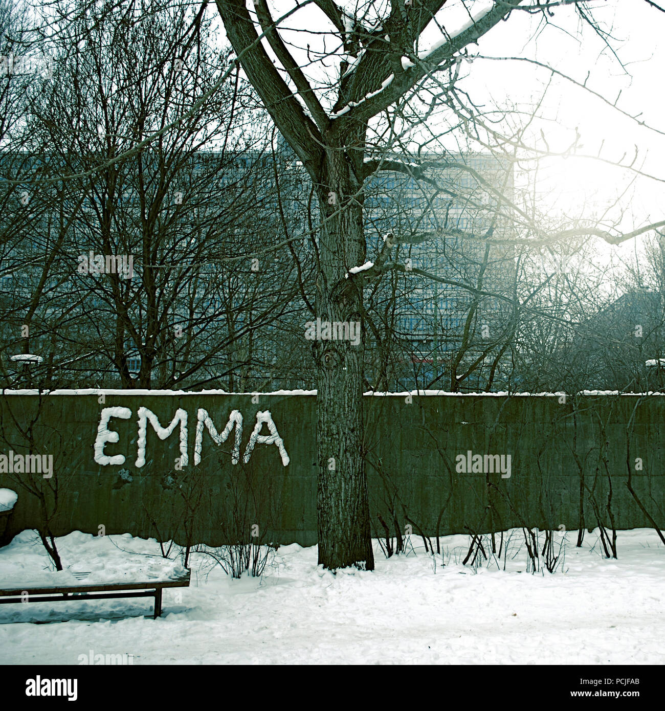 L'inverno,tristesse,streetart,emma Immagini Stock