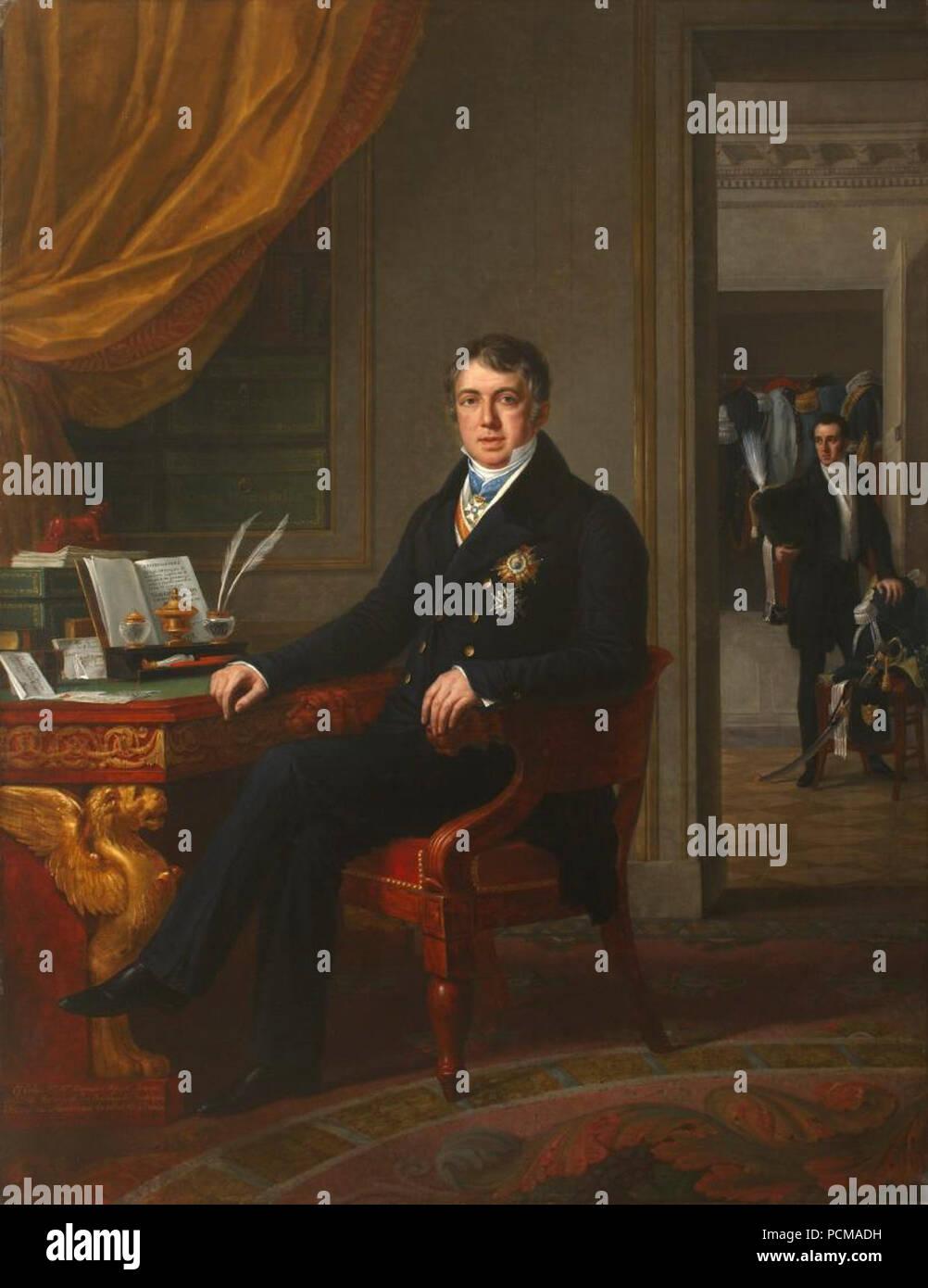 Alejandro Aguado, Marqués de Las Marismas del Guadalquivir (Museo del Romanticismo de Madrid). Immagini Stock