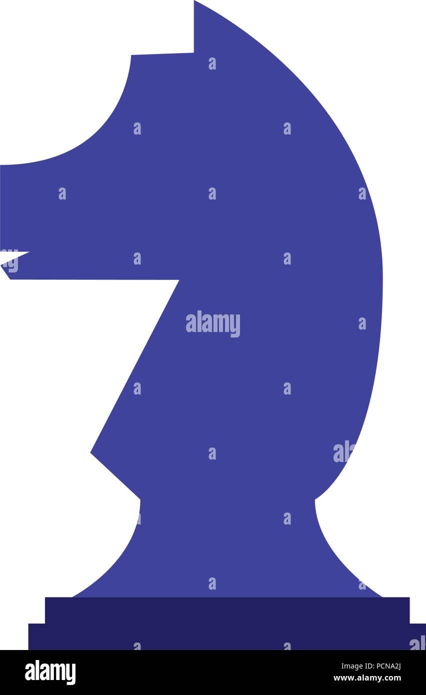 Cavallo pezzo degli scacchi icona isolato illustrazione for Cavallo stilizzato