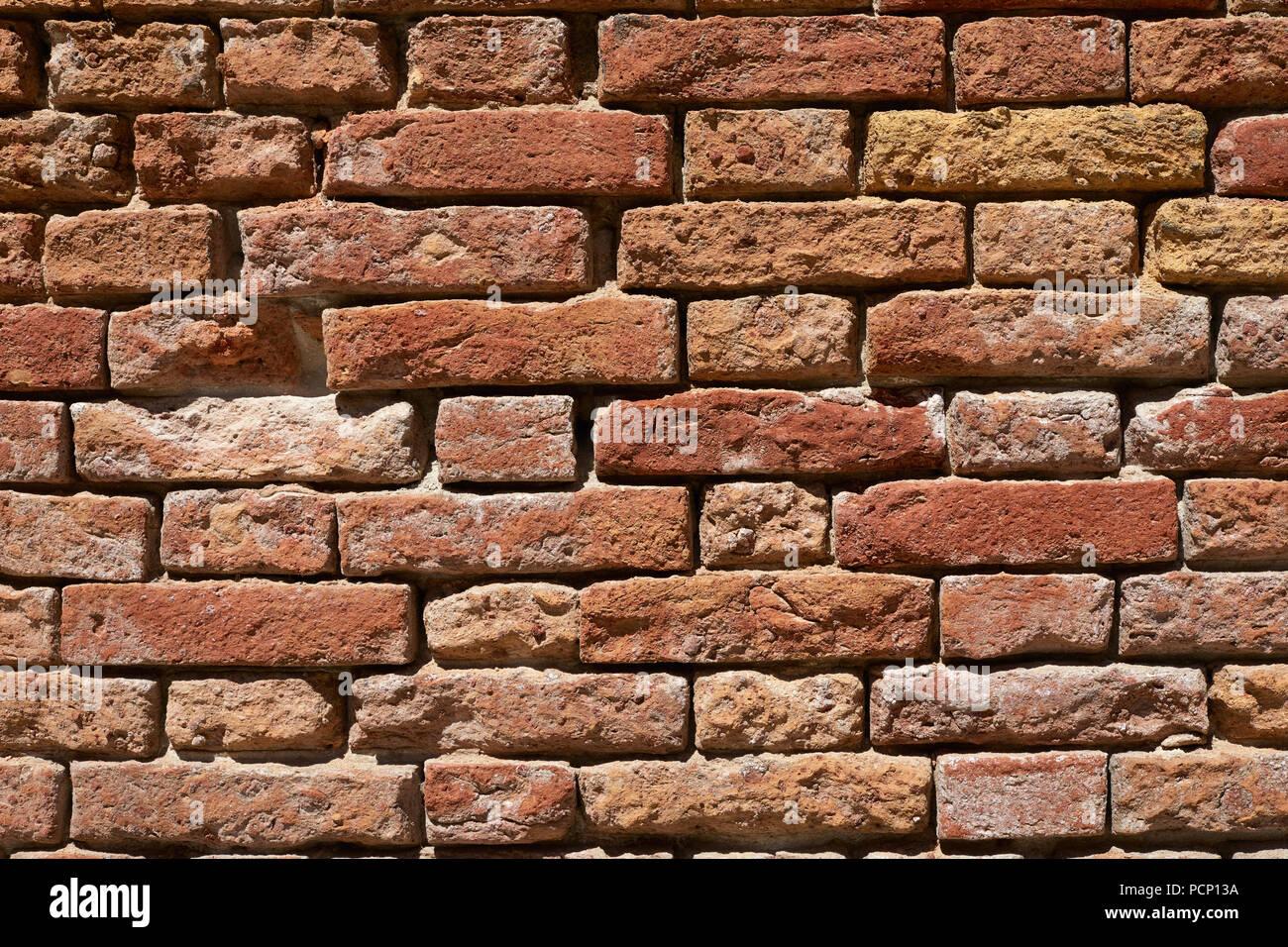Rosso Antico Muro Di Mattoni Texture Di Sfondo La Luce Del Sole