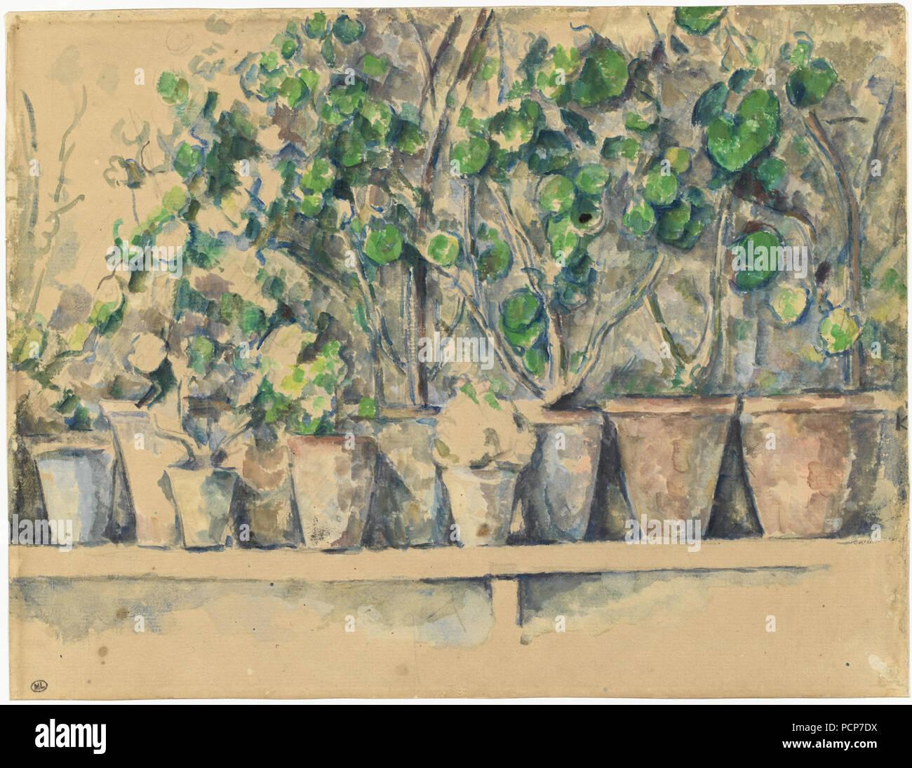 Le fioriere, 1883-1887 ca. Foto Stock