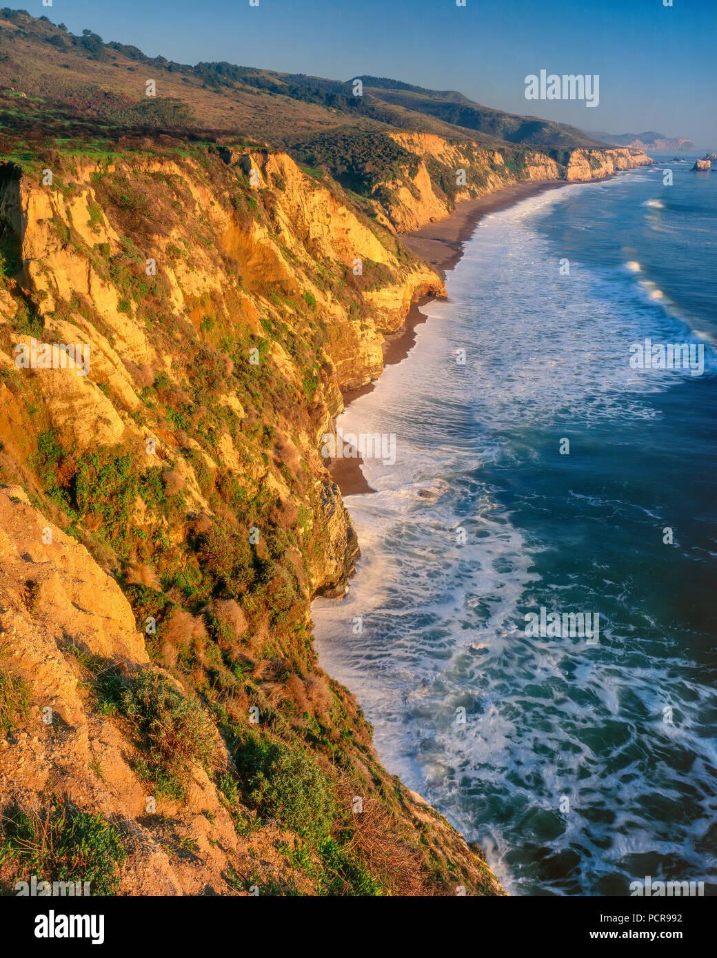 Kelham Beach, Point Reyes National Seashore, Burton deserto, Marin County, California Immagini Stock