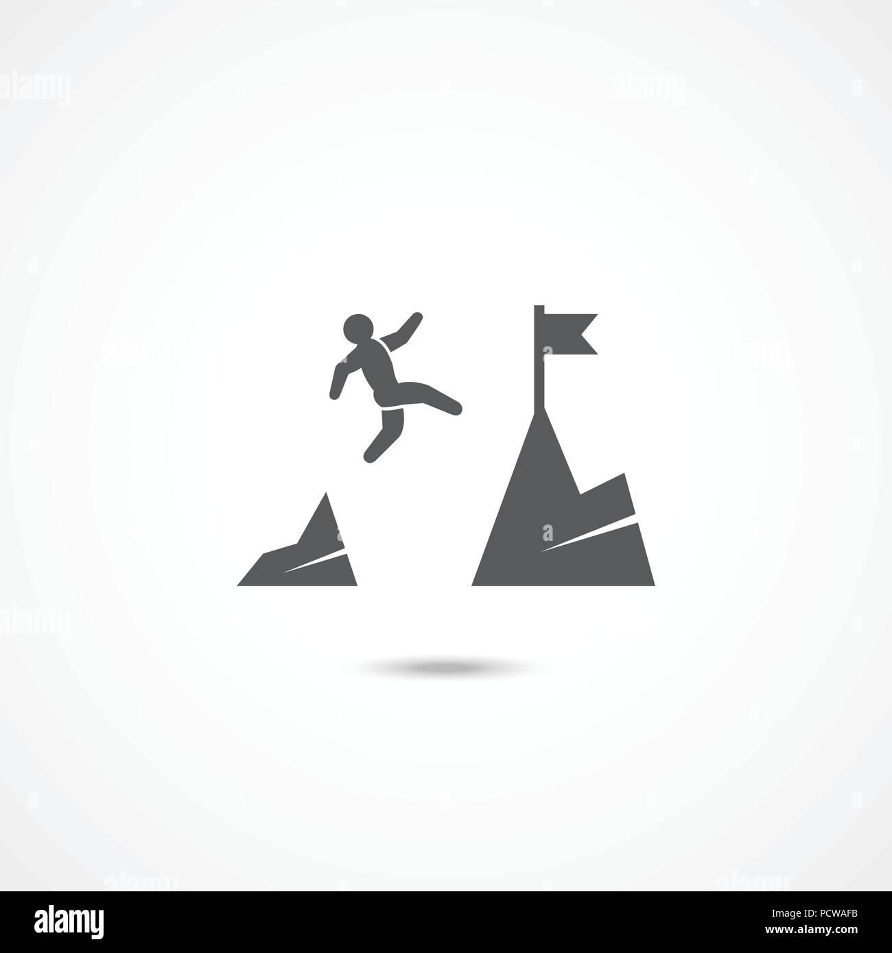 Icona di coraggio su bianco Immagini Stock