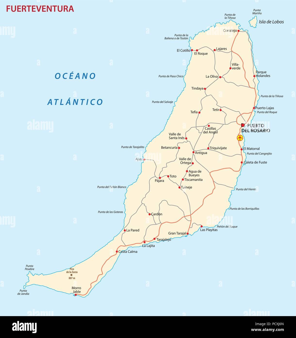 Cartina Spagna Fuerteventura.Fuerteventura Map Immagini E Fotos Stock Alamy