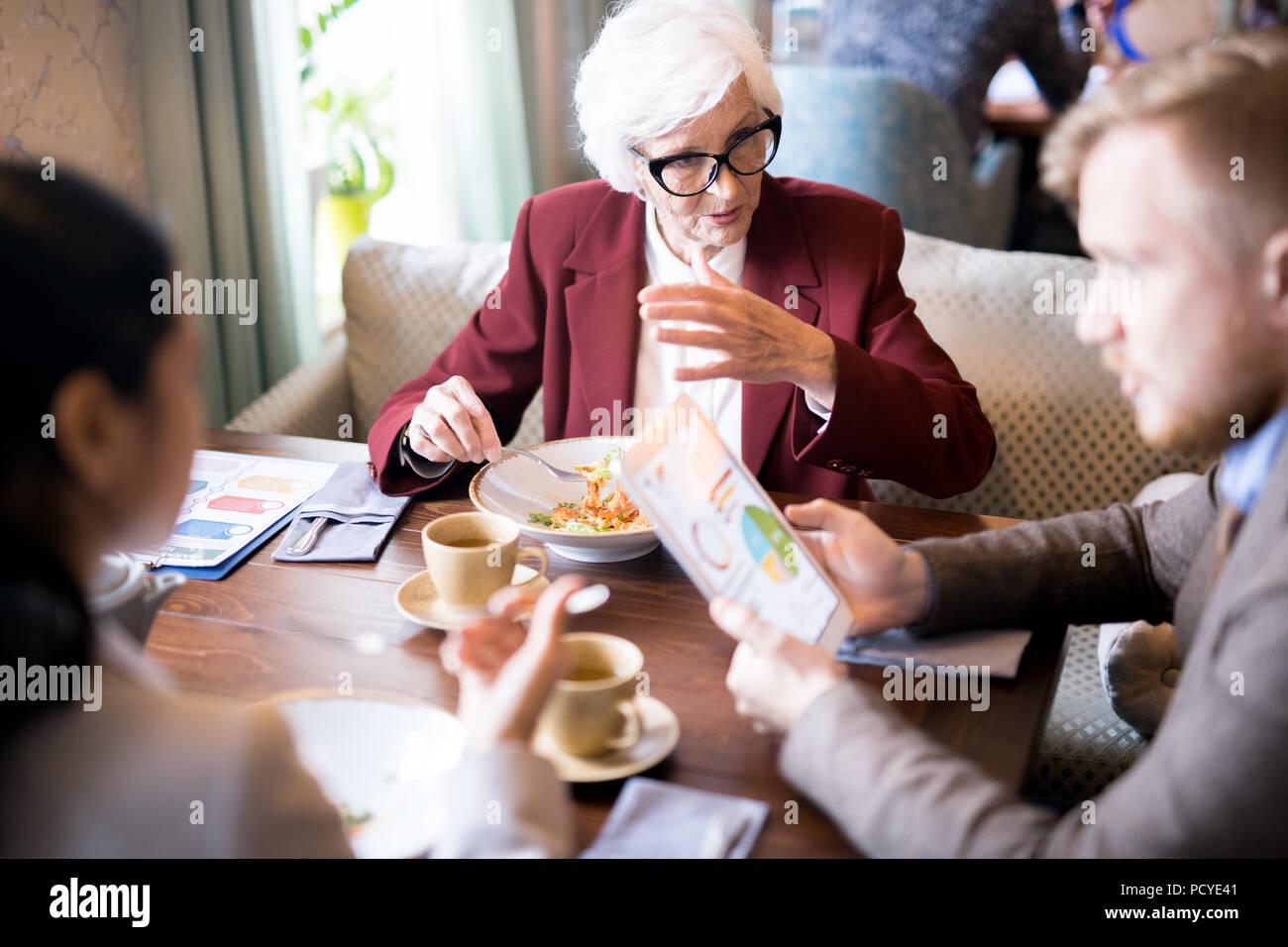 La gente di affari in riunione Immagini Stock