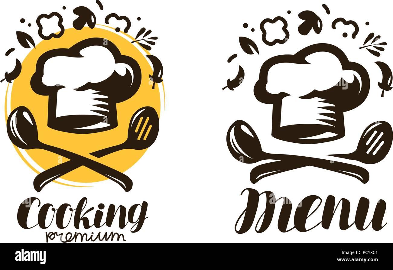 La Cottura Cucina Logo Etichette Per Il Menu Del Ristorante O Bar
