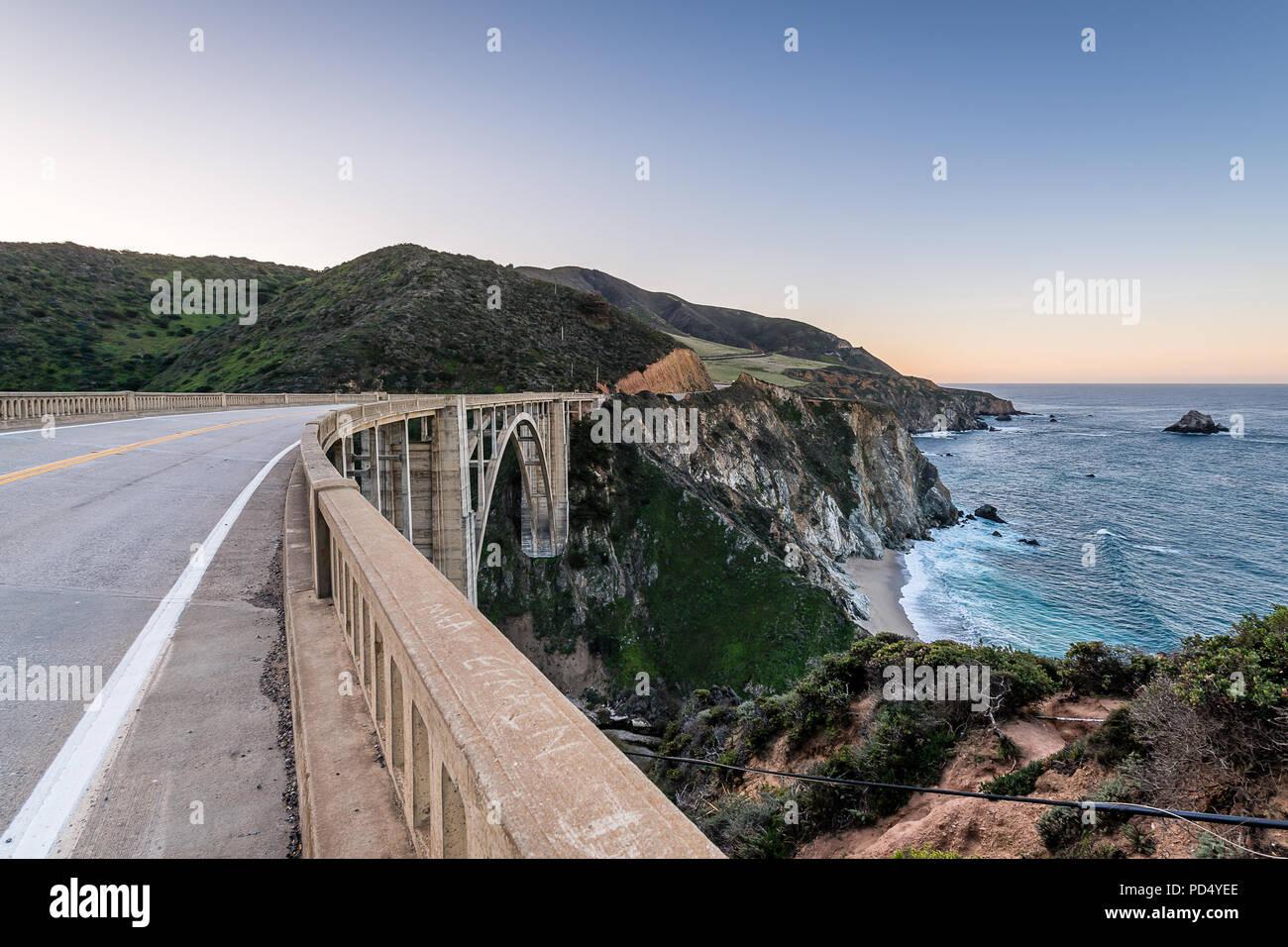 Big Sur e la costa della California Immagini Stock