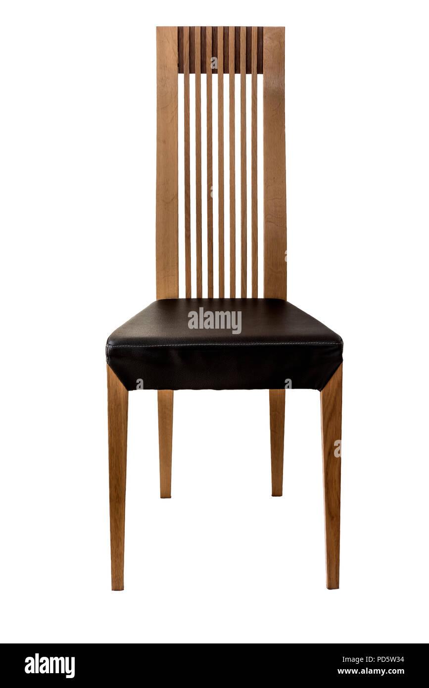 Schienale alto moderne sale da pranzo sedia con sedile in pelle ...