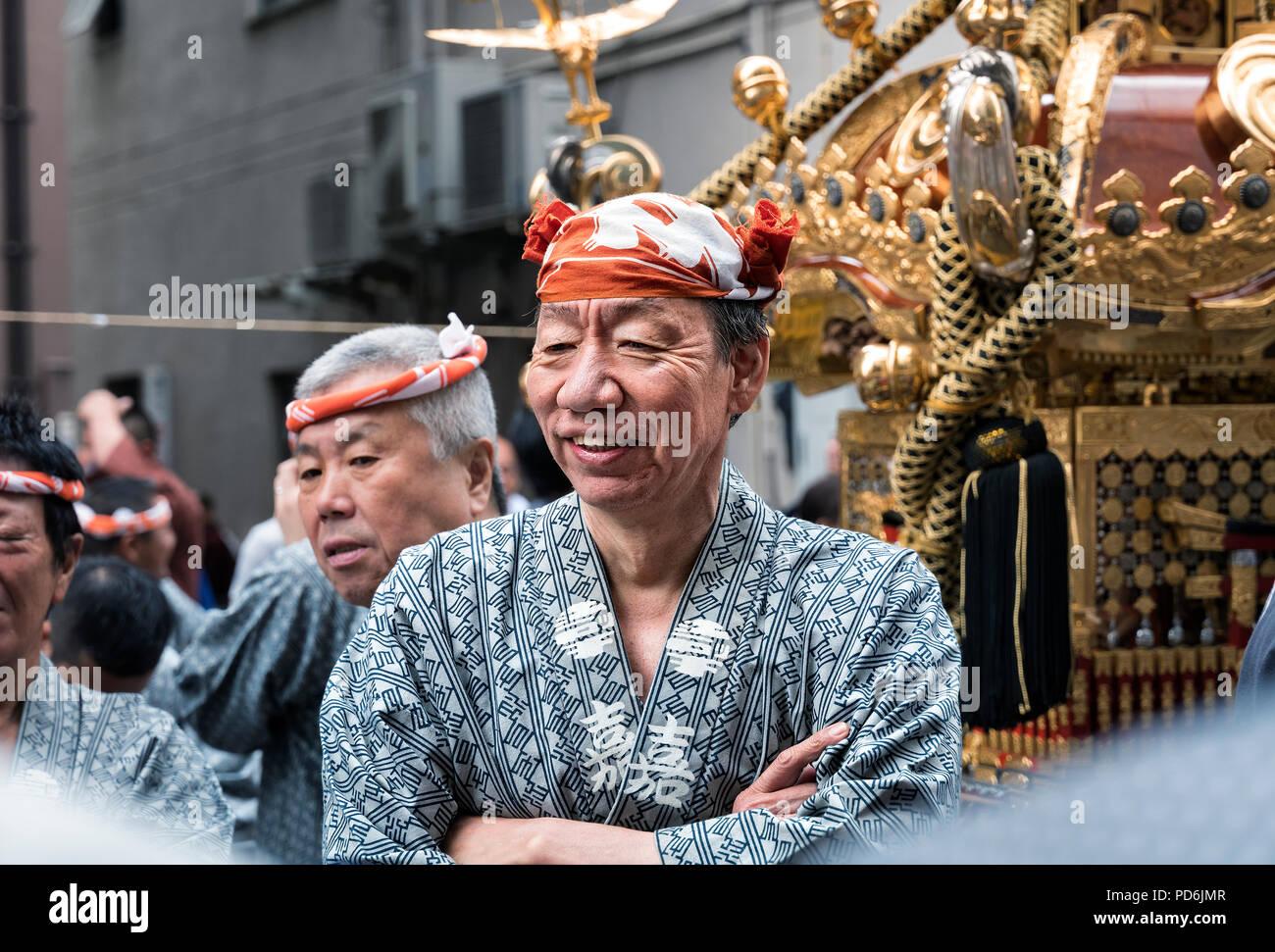 Giappone, isola di Honshu, Kanto, Tokyo, il Kanda Matsuri. Immagini Stock