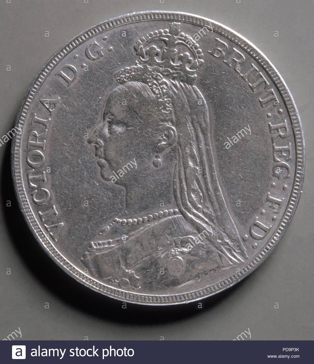 fe9efe00af04 MONEDA-LIBRA CORONA DE PLATA-1889-ANVERSO(ROSTRO VICTORIA MI INGLATERRA)35  mm. Posizione  Collezione privata