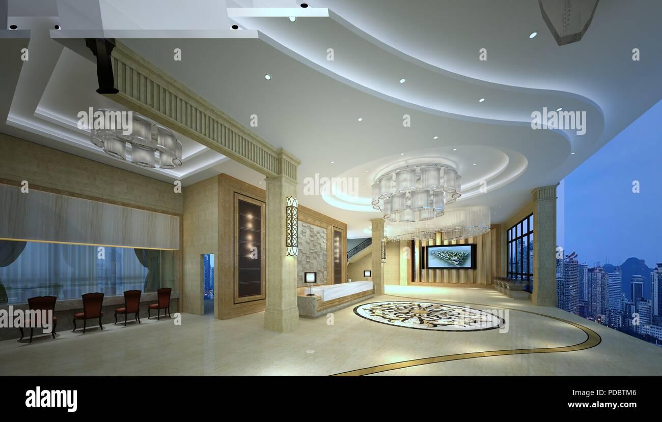 Hotel Di Lusso Interni : 3d render di hotel di lusso interno foto & immagine stock: 214775798