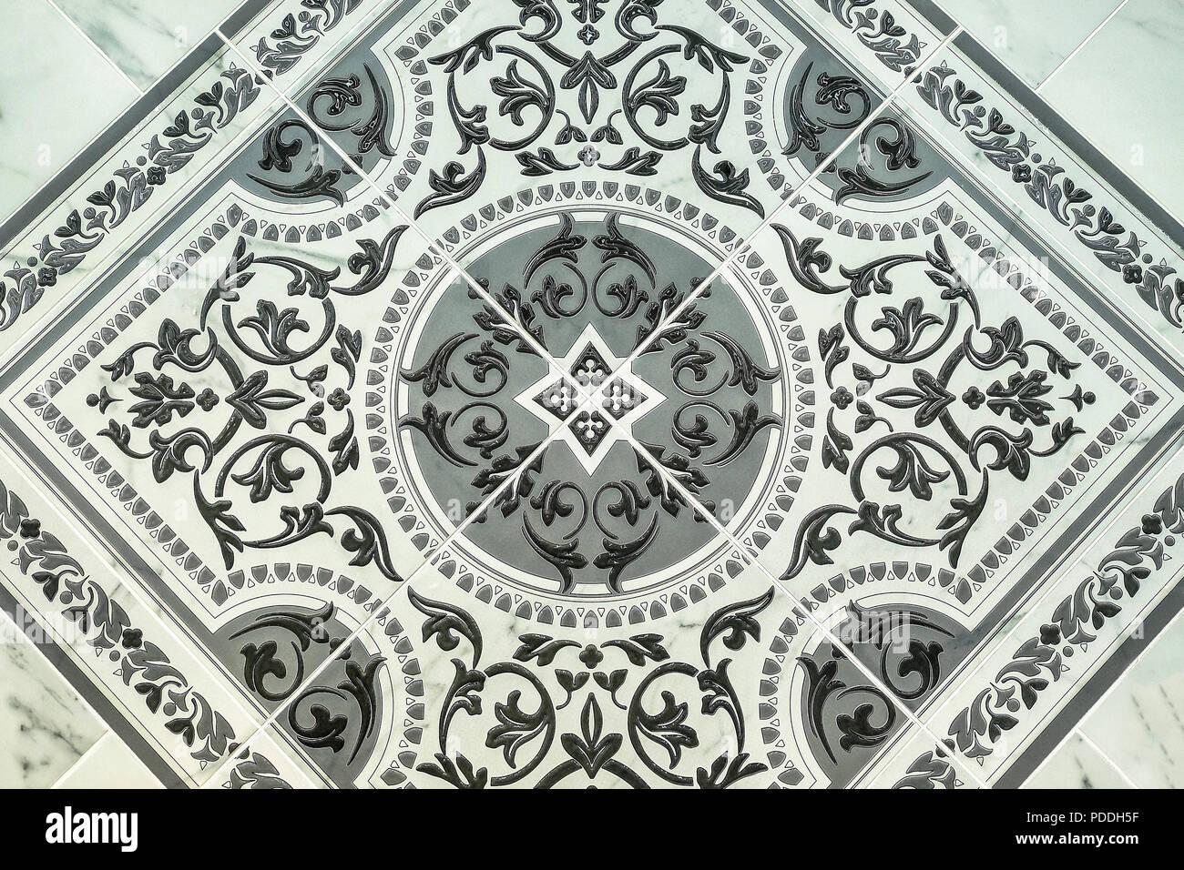 Le piastrelle di ceramica quadrato scuro seamless texture grigio