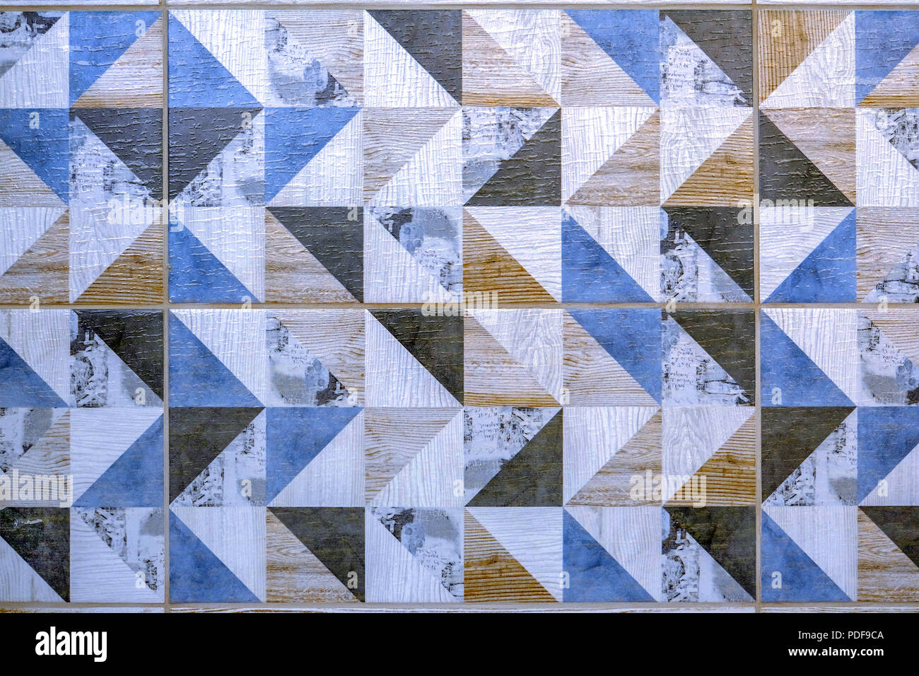 Piastrella ceramica seamless texture quadrato grigio scuro foto