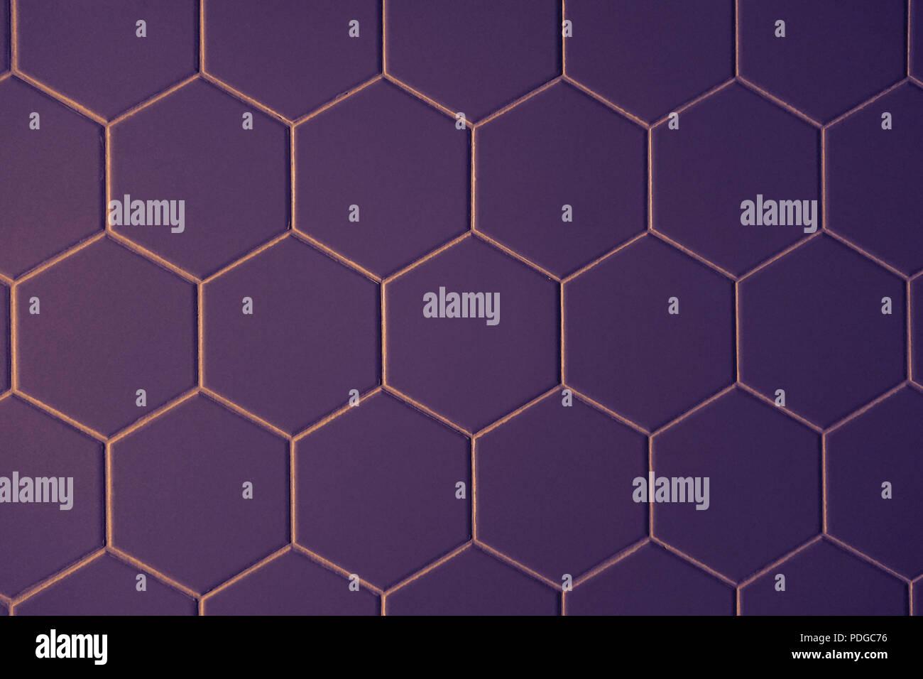 Abstract la texture della piastrella motivo esagonale ultravioletto