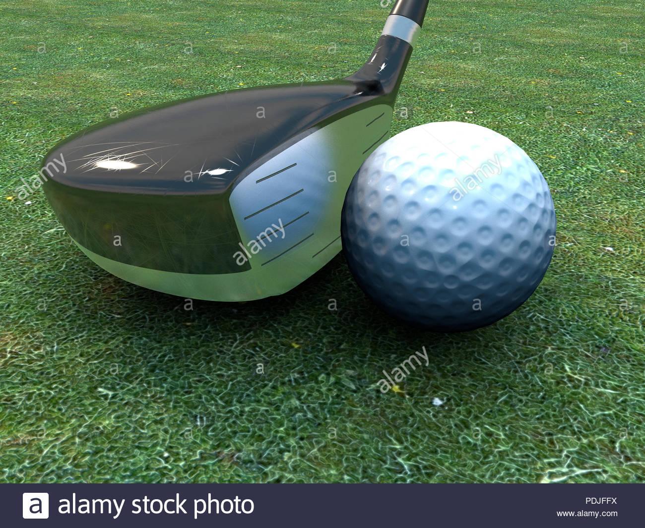 Global pallina da golf Immagini Stock