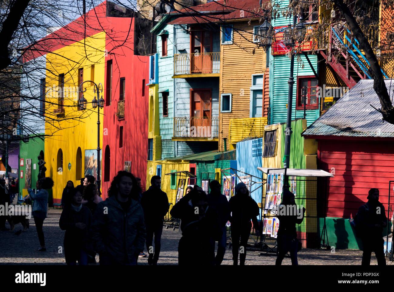 Caminito. La Boca, Buenos Aires, Argentina Immagini Stock
