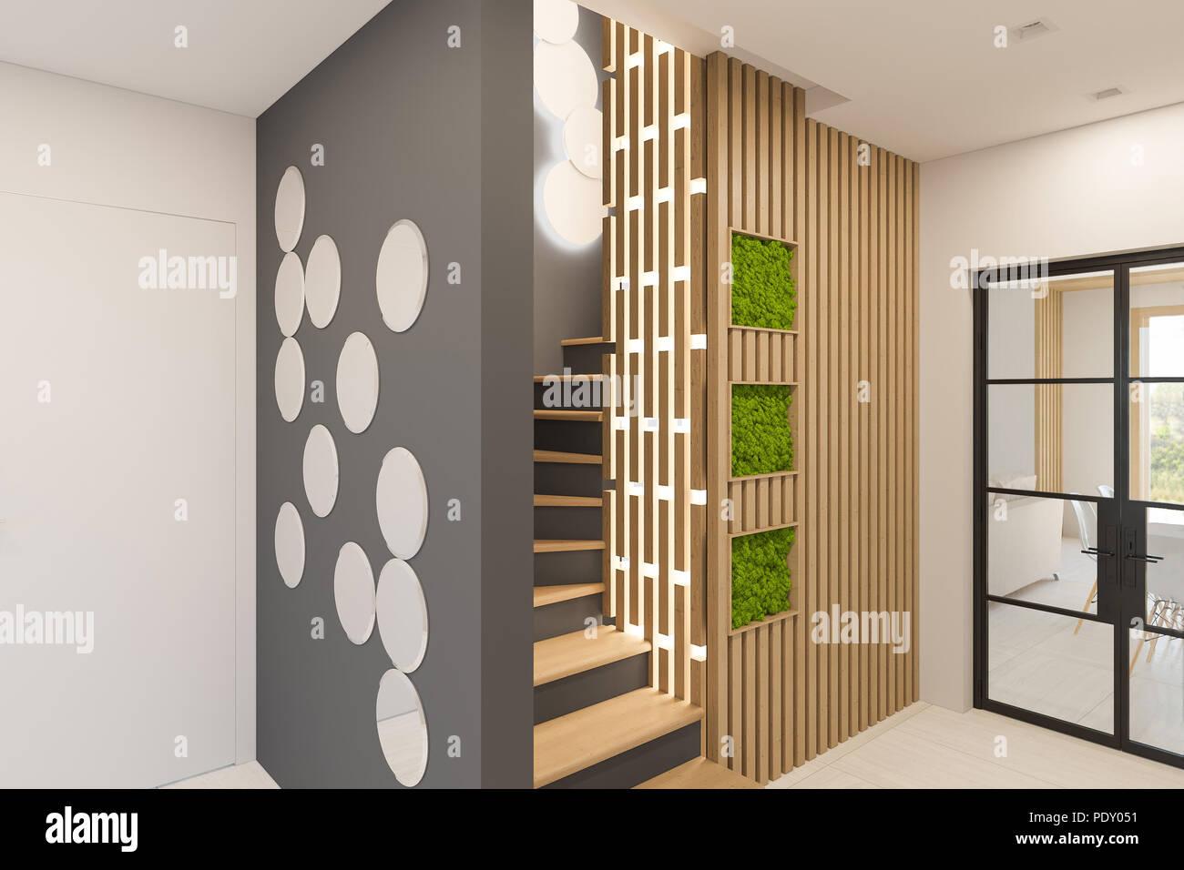 Interni Di Una Casa Di Campagna : Il design degli interni di un foyer in una casa di campagna privata