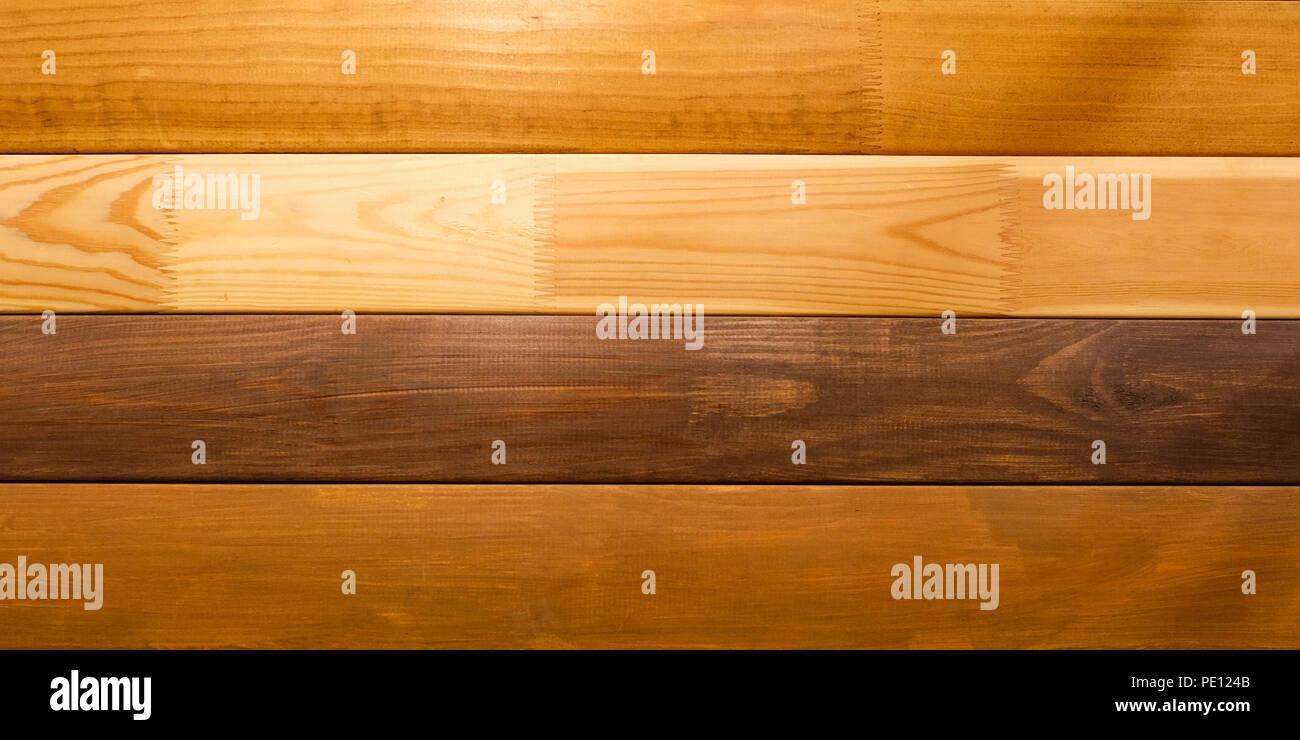 Scheda lucidato. Diversi tipi di legno. Quercia bianca. Bog oak ...