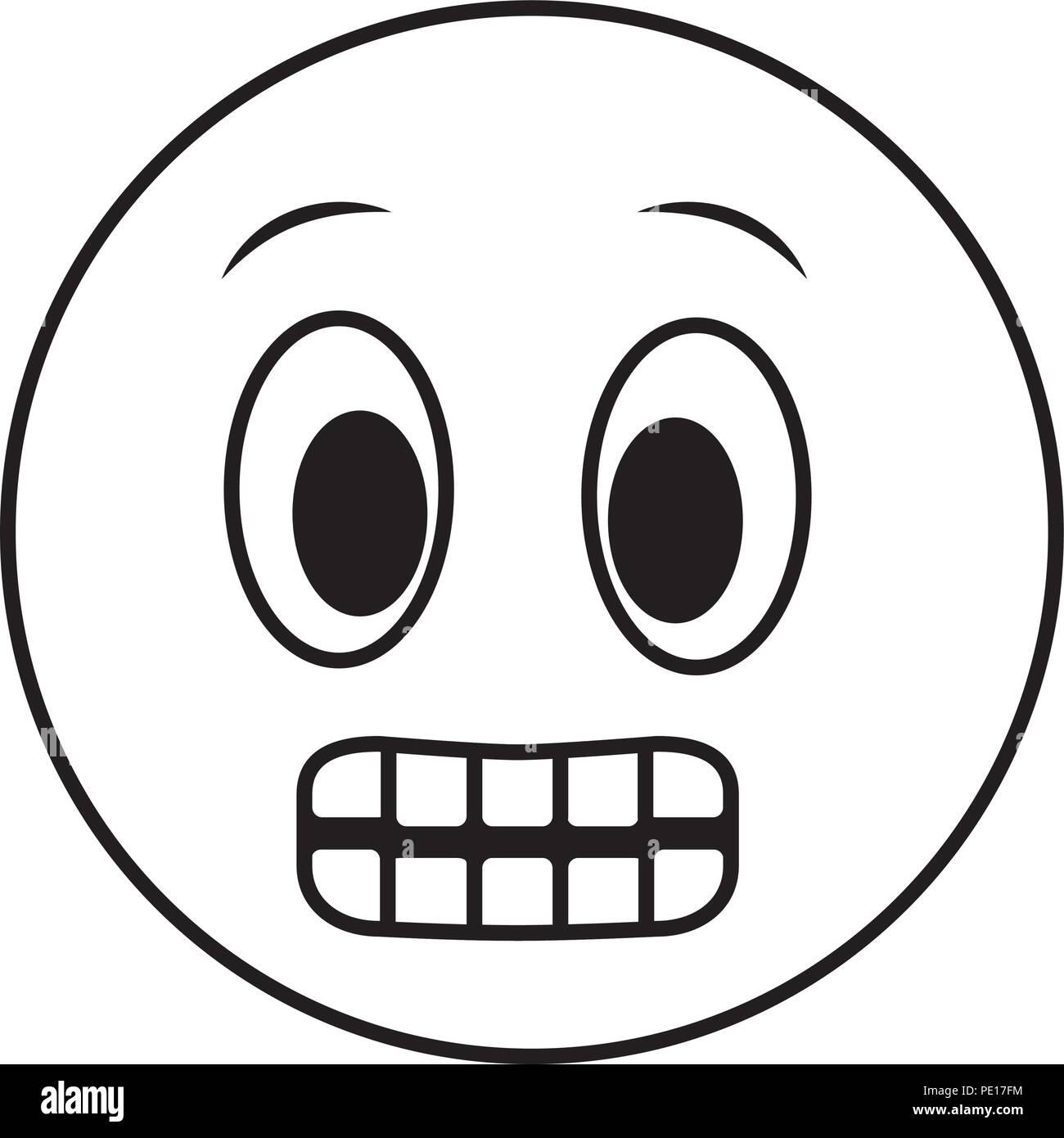 Grande Sorriso Gli Emoji Grinning Faccia Illustrazione