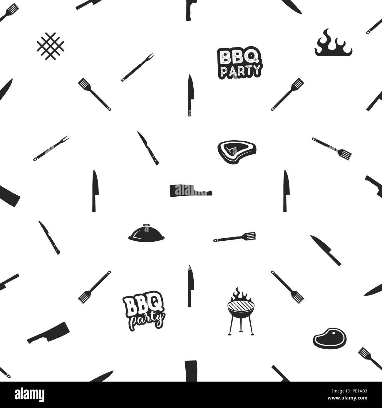 Tematiche barbecue dal design semplice. Modello di barbecue ...