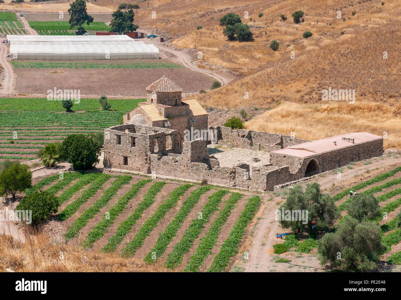 Pittoresca Santa Cristiana Ortodossa chiesa di Panagia Sinti a Paphos area distrettuale di Cipro Immagini Stock