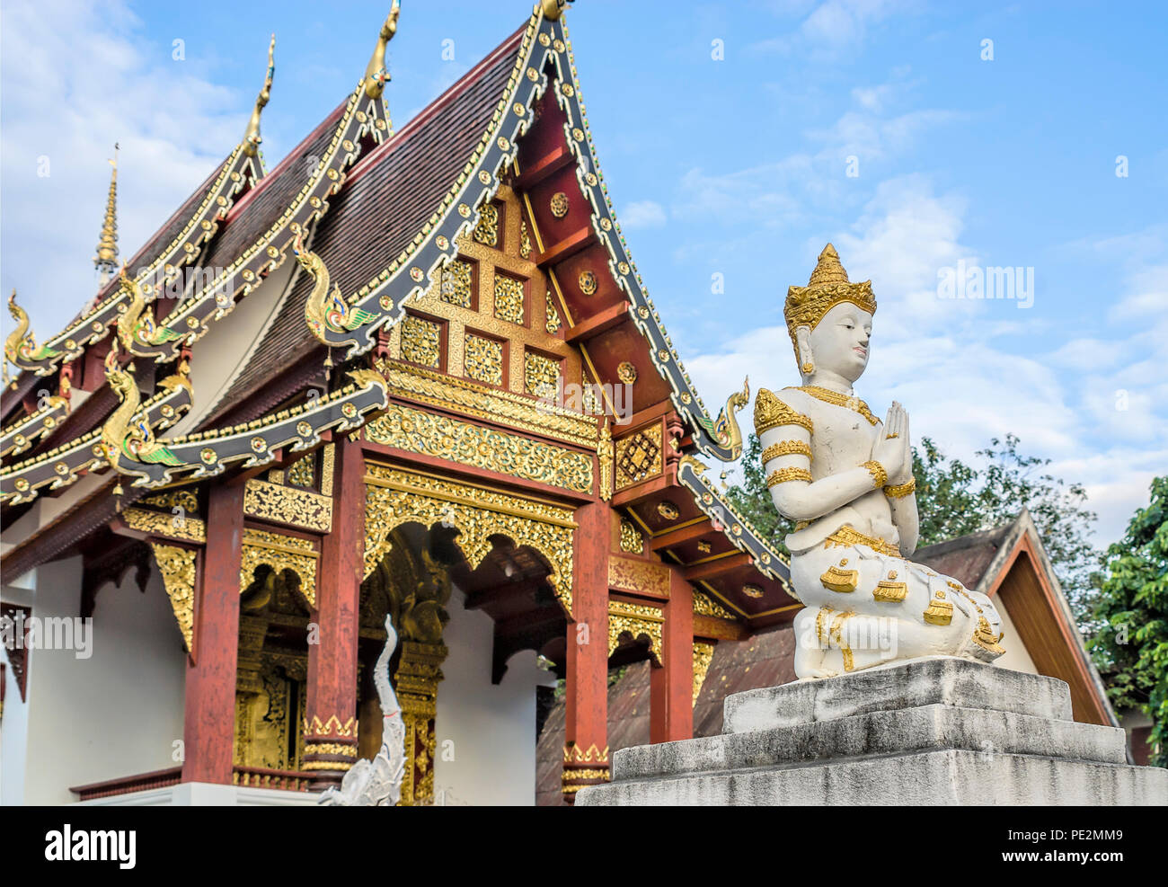 Wat Chang Taem, Chiang Mai, Thailandia Immagini Stock